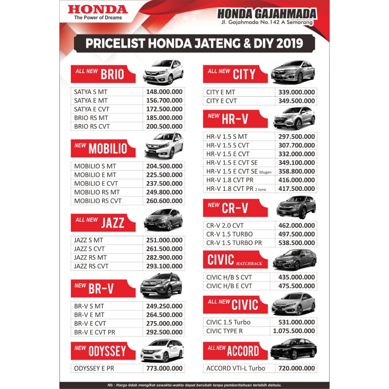 Kelebihan Daftar Harga Mobil Honda Tangguh