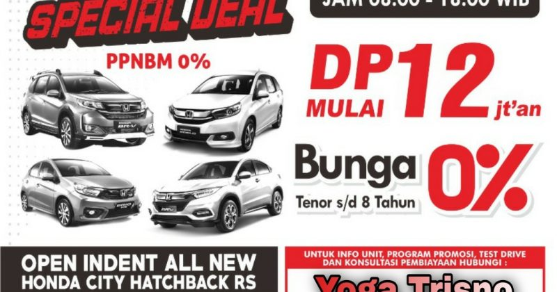 PROMO APRIL SPECIAL DEAL HONDA